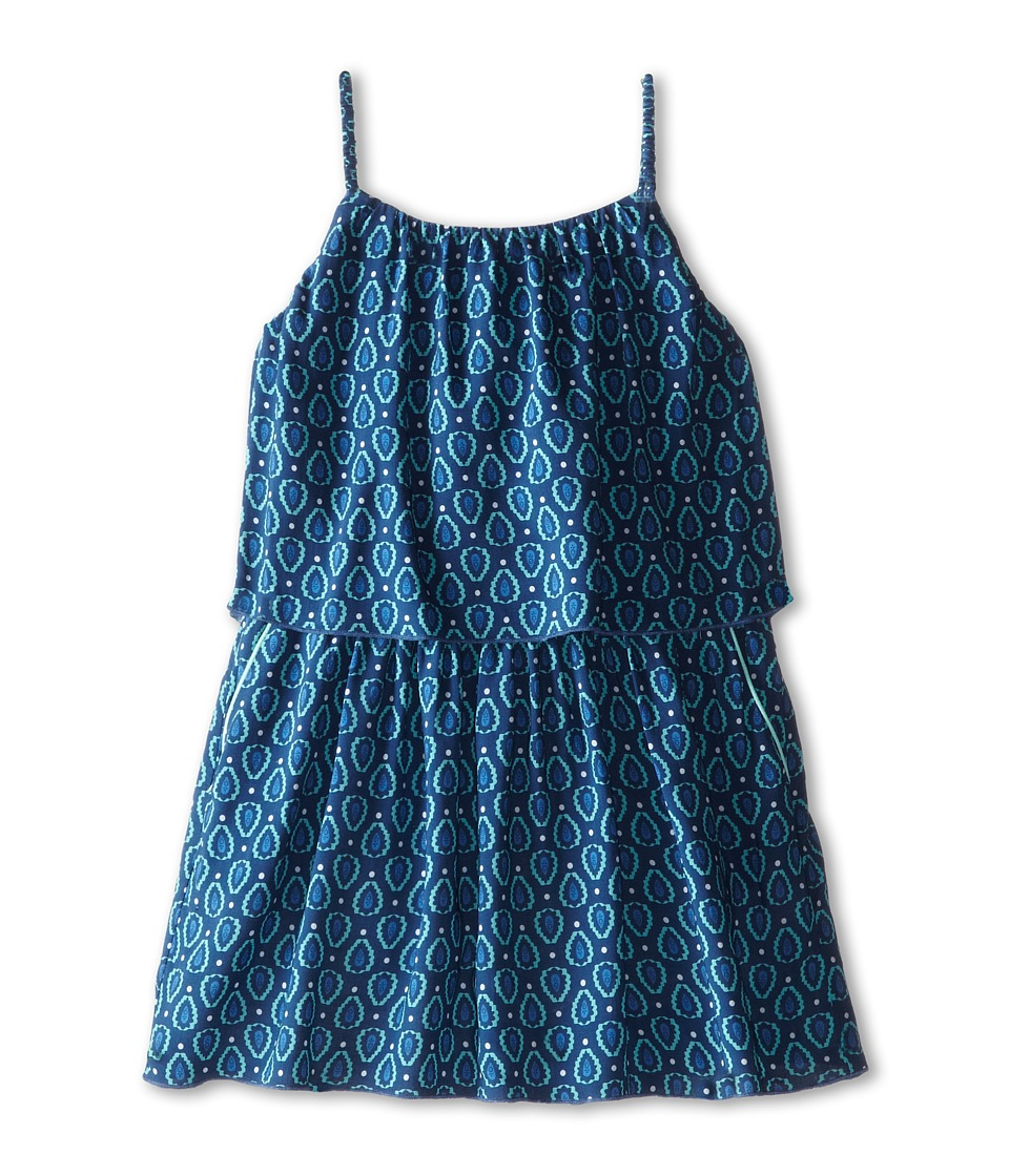 Chloe Kids - Runway Print Inspired Layered Woven Dress (Toddler/Little Kids) (Ouragan) Girl's Dress