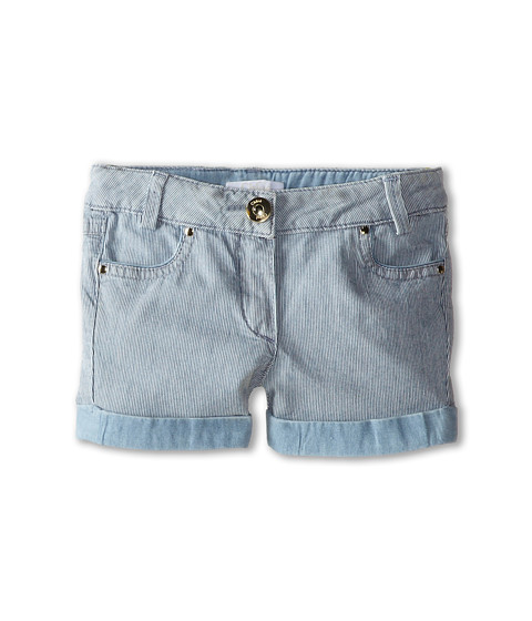 Chloe Kids - Ticking Stripe Denim Shorts (Toddler/Little Kids) (Blue Lave) Girl