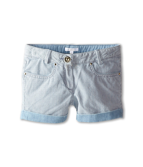 Chloe Kids - Ticking Stripe Denim Shorts (Little Kids/Big Kids) (Blue Lave) Girl's Shorts