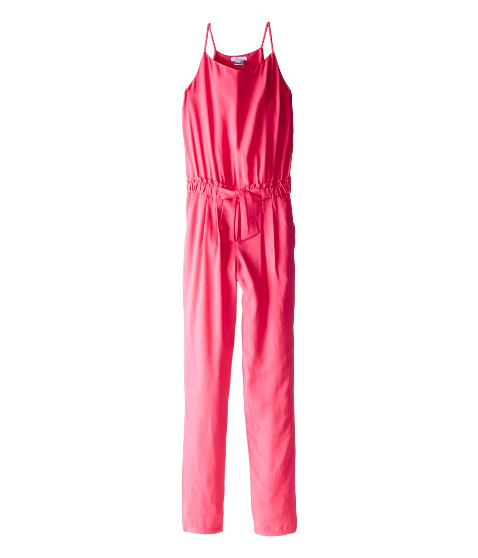 Chloe Kids - Woven Jumpsuit with Elasticated Waist (Big Kids) (Fuchsia) Girl's Jumpsuit & Rompers One Piece