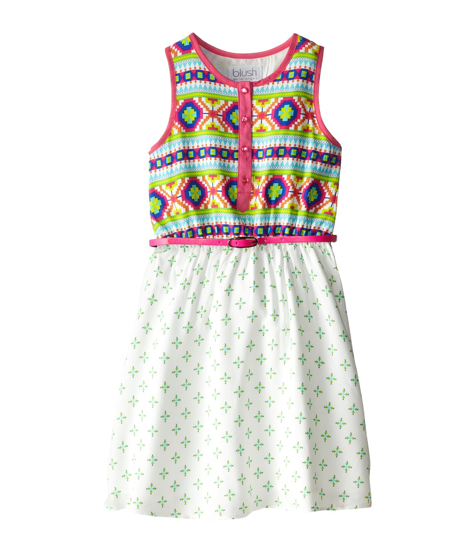 Us Angels - Printed Rayon Challis Tank (Big Kids) (Multi) Girl's Dress