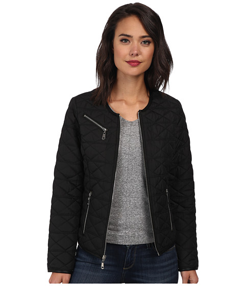 French Connection - Boxy Quilt (Black) Women's Coat