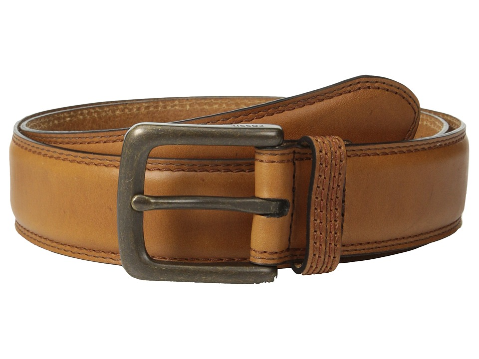 Fossil - Mitch Belt (Cognac) Men's Belts