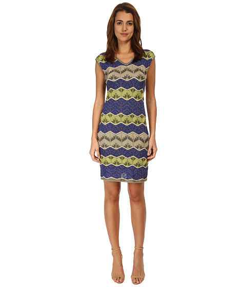 M Missoni - Lurex V-Neck Dress (Royal) Women
