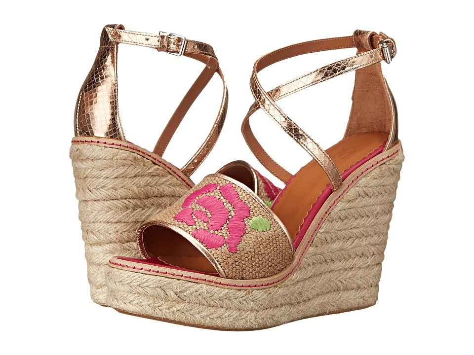 M Missoni - Burlap Wedge with Embroidery (Natural) Women's Wedge Shoes