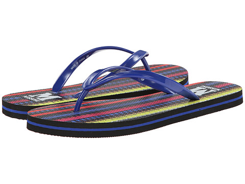 M Missoni - Printed Flip Flops (Black) Women's Sandals