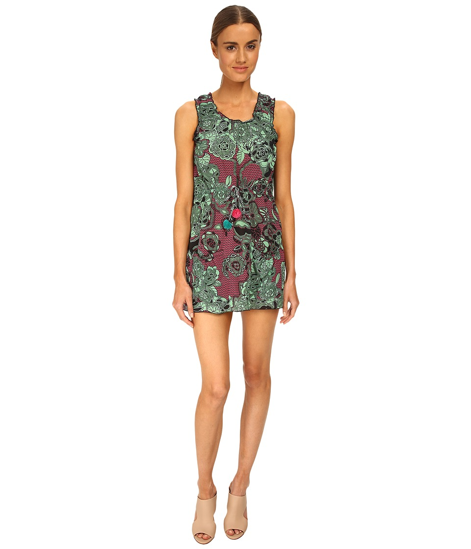 M Missoni - Floral Siz Zag Silk Dress (Mint) Women's Dress