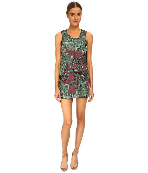 M Missoni - Floral Siz Zag Silk Dress (Mint) Women's Dress