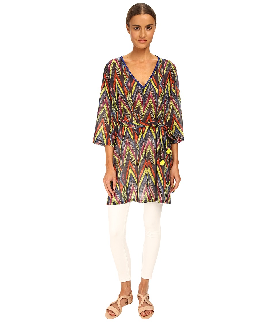 M Missoni - Tribal Zig Zag Cotton Voile Kaftan (Royal) Women's Swimwear