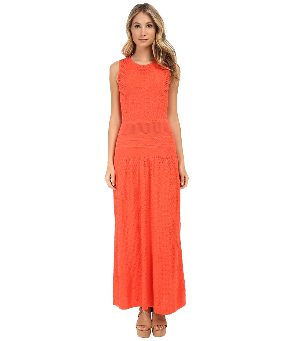 BCBGMAXAZRIA Delyse Pointelle Maxi Dress (Ambrosia) Women