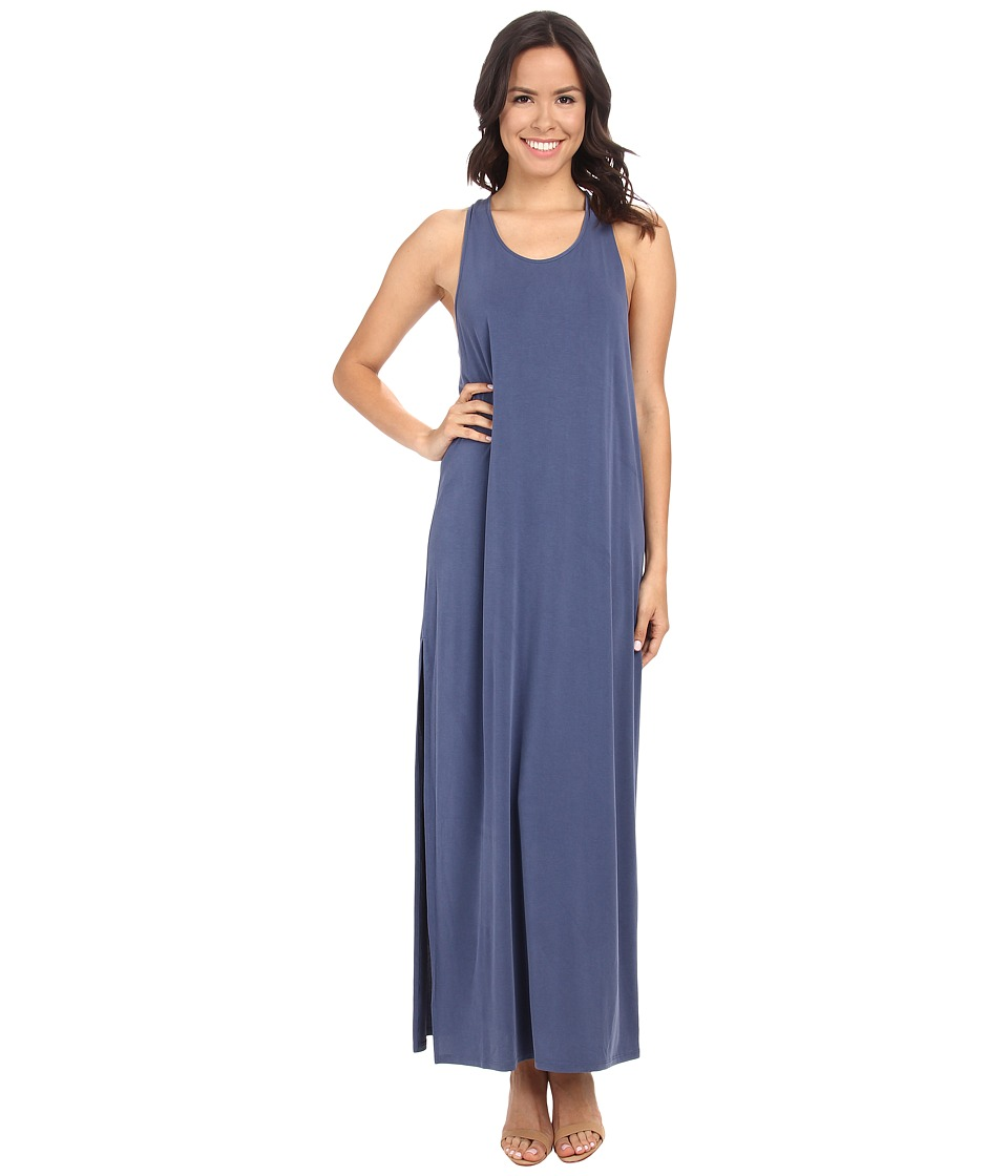 BCBGMAXAZRIA - Raeghan Twisted Back Tank Maxi Dress (Vintage Blue Depths) Women