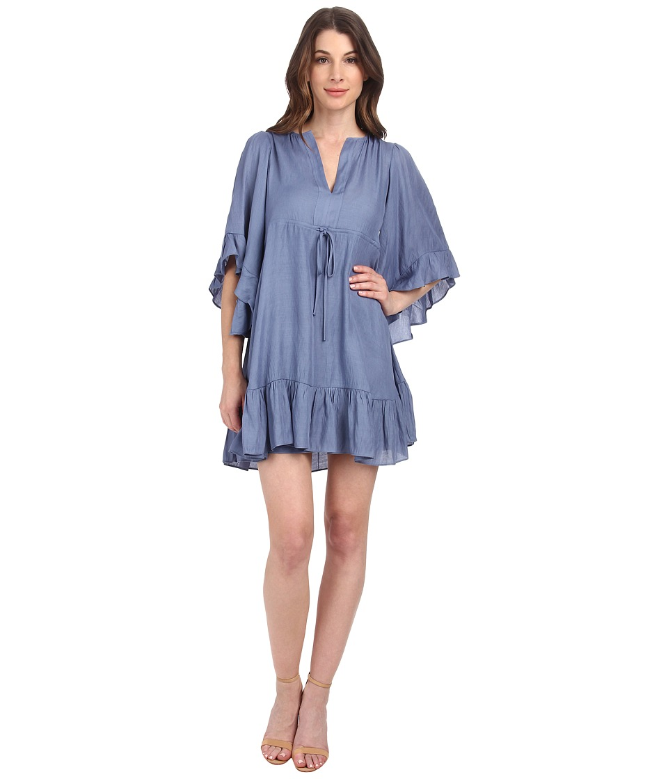 BCBGMAXAZRIA - Emileigh Angel Sleeve Tunic Dress (Faded Blue) Women's Dress