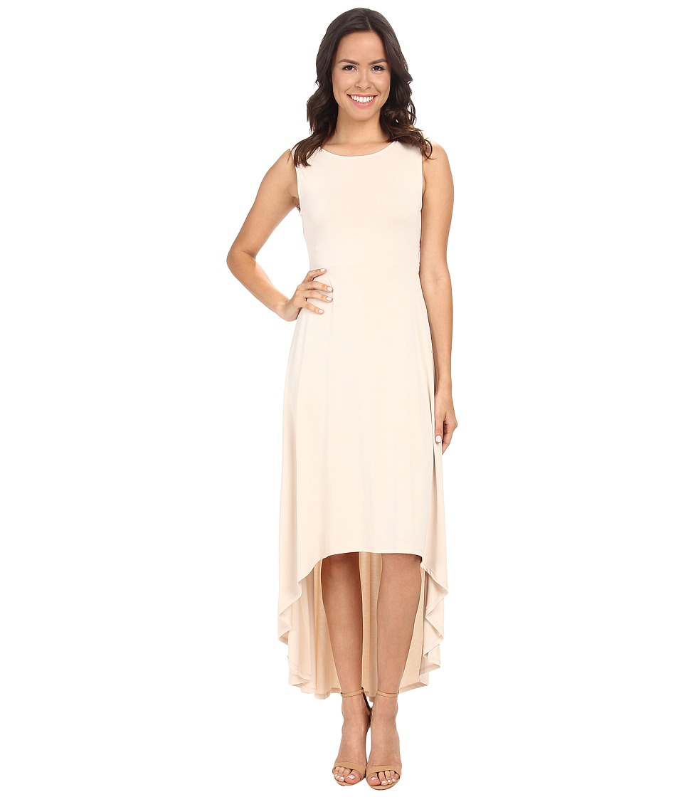 BCBGMAXAZRIA - Fara High Low Dress w/ Twist Open Back (Vintage Almond Blossom) Women