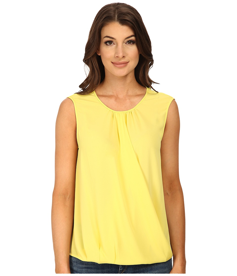 BCBGMAXAZRIA - Binx Sleeveless Wrap Top (Canary) Women's Sleeveless