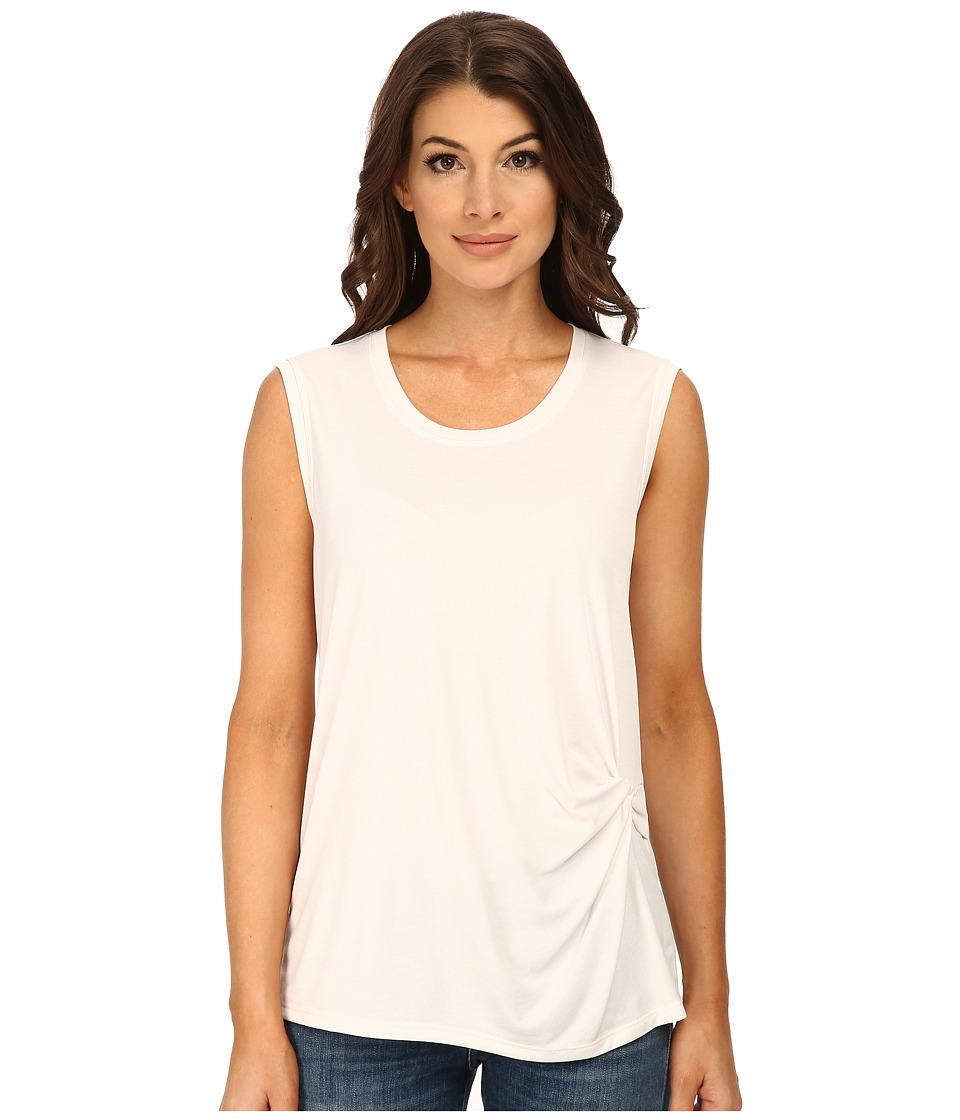 BCBGMAXAZRIA - Gesele Sleeveless Top with Twist Front (White) Women