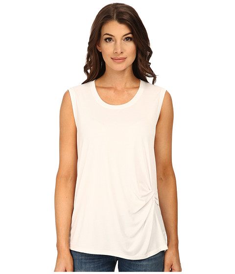 BCBGMAXAZRIA - Gesele Sleeveless Top with Twist Front (White) Women's Sleeveless