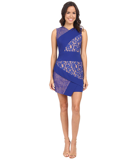 BCBGMAXAZRIA - Dalia Sleeveless Asymmetrical Skirt Dress (Royal Blue) Women