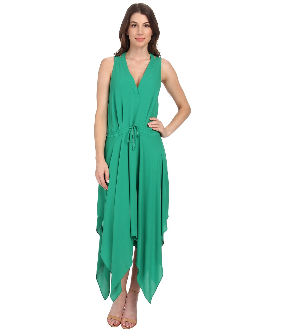 BCBGMAXAZRIA - Klara Double Strap Wrap Top Hankerchief (Light Kelly Green) Women's Dress