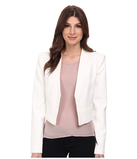 BCBGMAXAZRIA - Bren Open Front Blazer (Off White) Women's Jacket