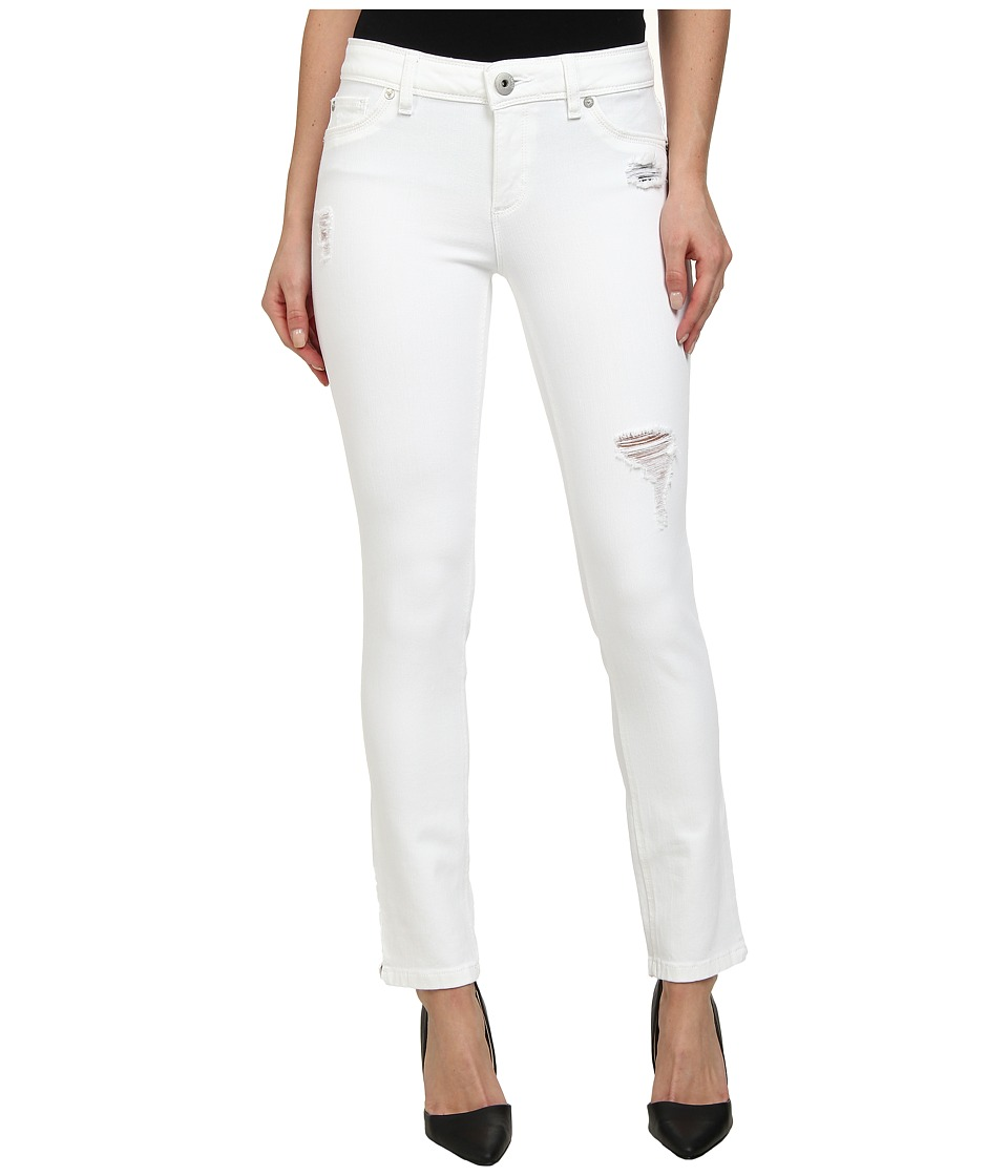 DL1961 - Angel Skinny in Swift White Distressed (Swift White Distressed) Women's Jeans