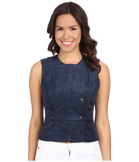 BCBGMAXAZRIA - Isa Moto Vest (Carbon) Women