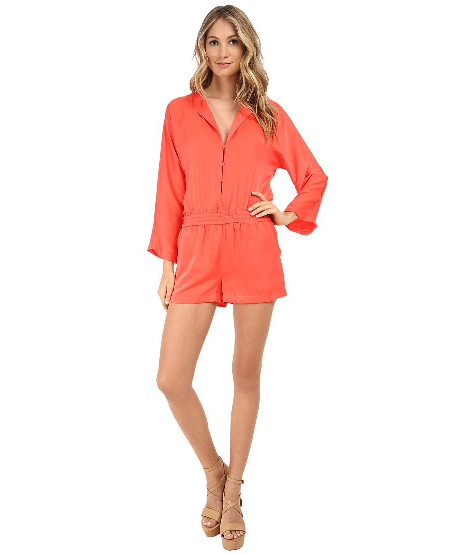 BCBGMAXAZRIA - Danae Plunge Neck Rompers (Ambrosia) Women's Jumpsuit & Rompers One Piece