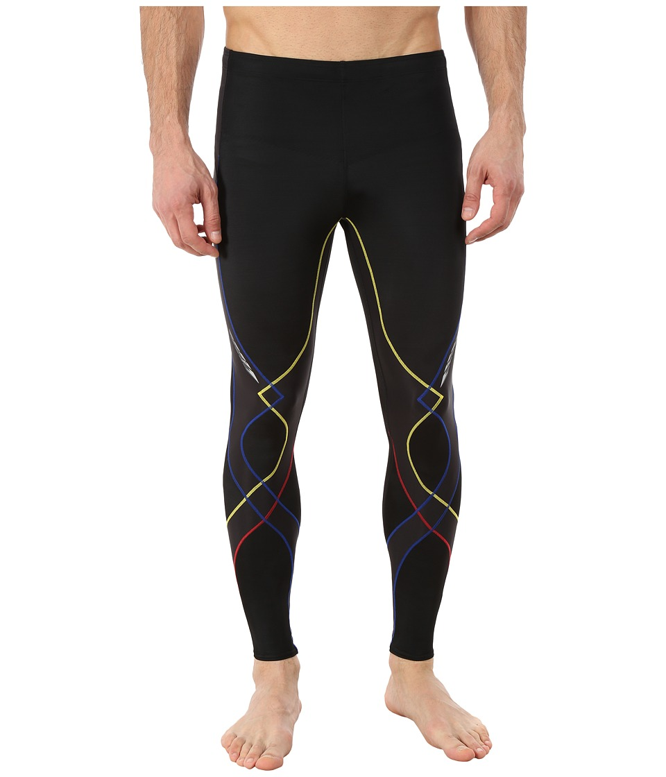 CW-X - Stabilyx Tight (Black/Yellow/Blue/Red) Men's Workout