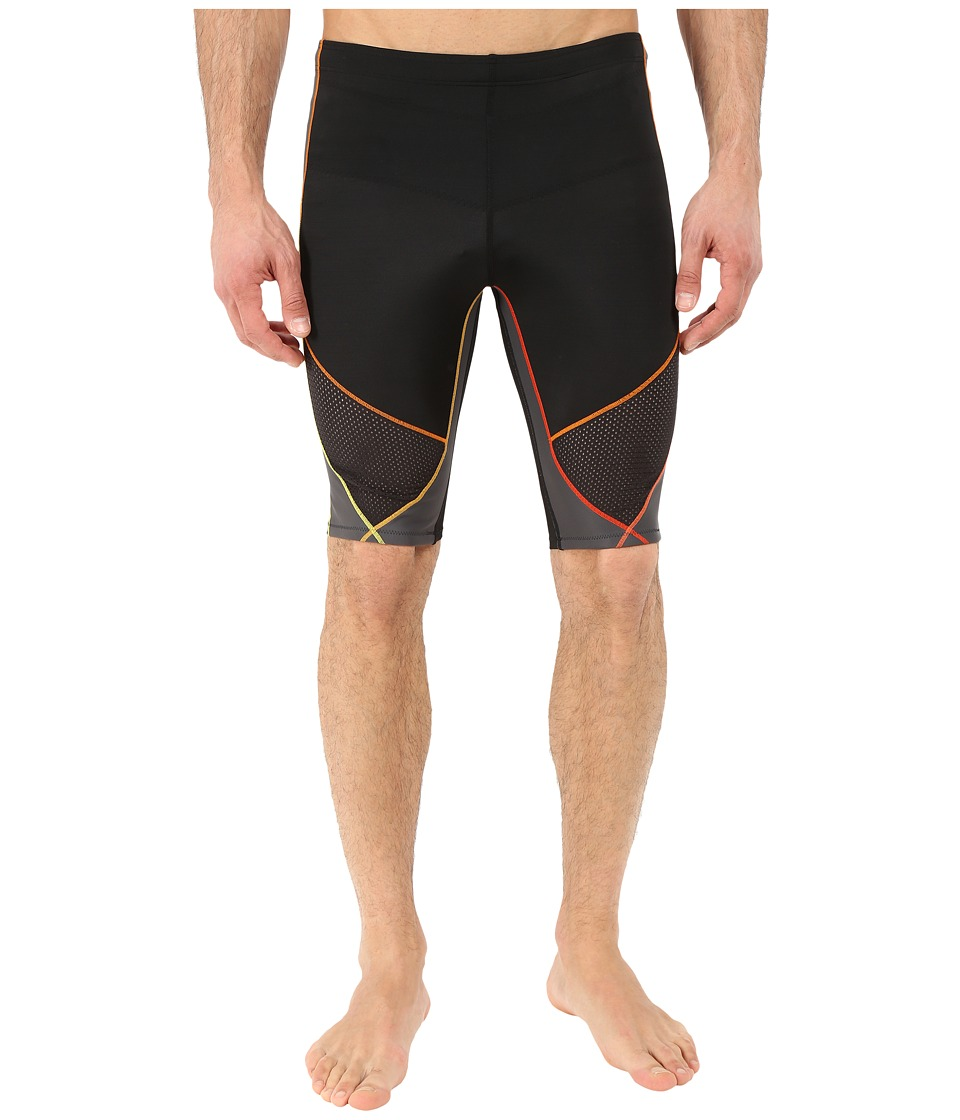 CW-X - Stabilyx Ventilator Short (Black/Yellow/Orange) Men's Shorts