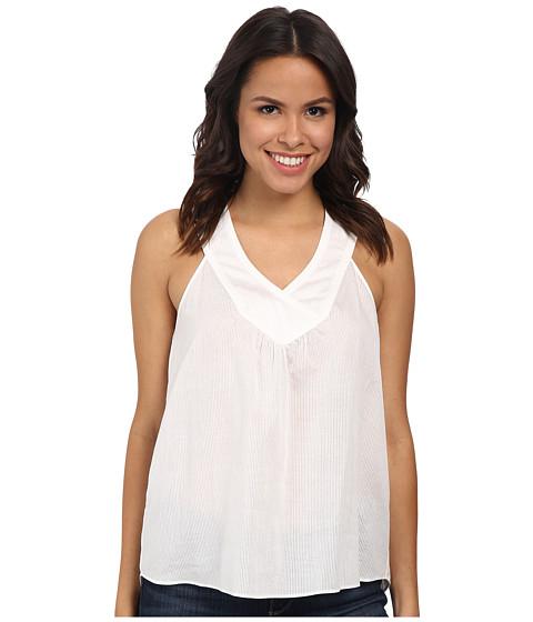 BCBGMAXAZRIA - Jovana Crossover Yoke Top (White) Women's Sleeveless