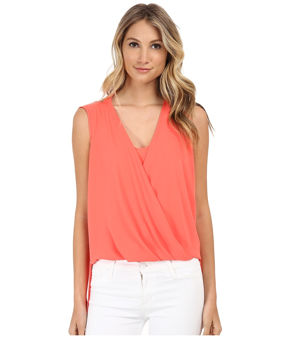 BCBGMAXAZRIA - Nicoleta Double Strap Wrap Top (Ambrosia) Women's Clothing