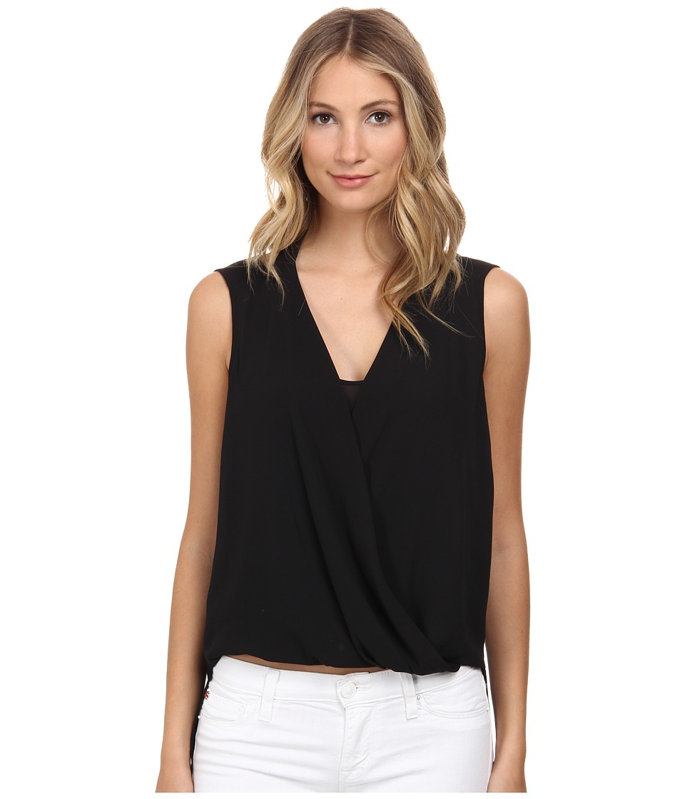 BCBGMAXAZRIA - Nicoleta Double Strap Wrap Top (Black) Women's Clothing