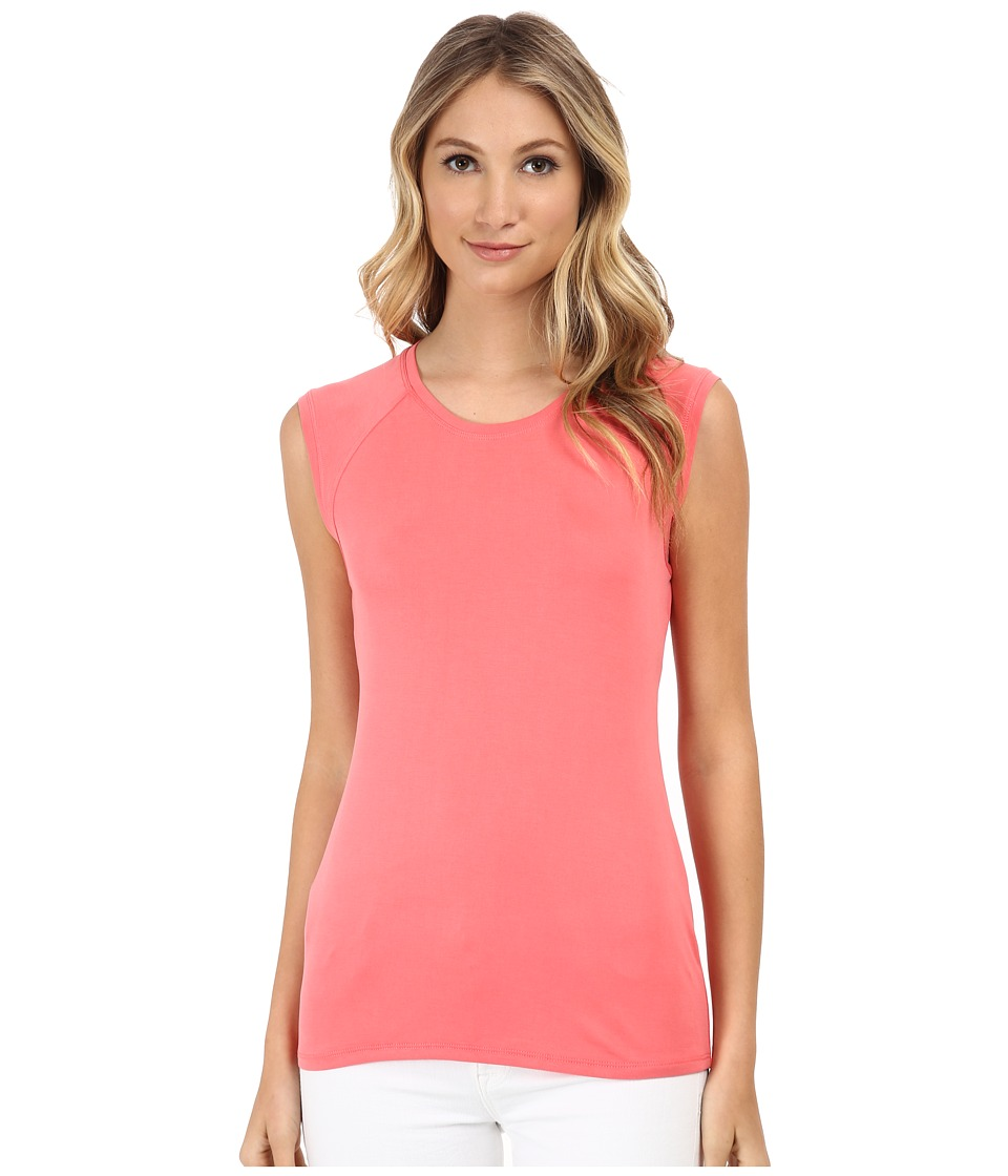 BCBGMAXAZRIA - Cristi Sleeveless Cowl Back Top (Vintage Coral Reef) Women's Clothing plus size,  plus size fashion plus size appare
