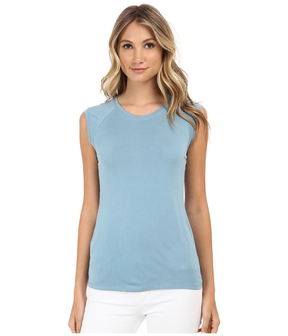 BCBGMAXAZRIA - Cristi Sleeveless Cowl Back Top (Vintage Blue Breeze) Women's Clothing plus size,  plus size fashion plus size appare