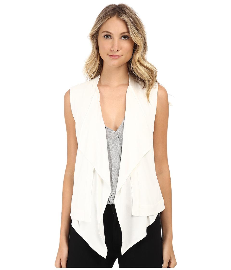 BCBGMAXAZRIA - Ryland Draped Front Vest (Off White) Women's Vest