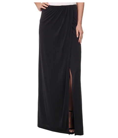 BCBGMAXAZRIA - Andreea Overlapped Draped Skirt (Vintage Black) Women's Skirt
