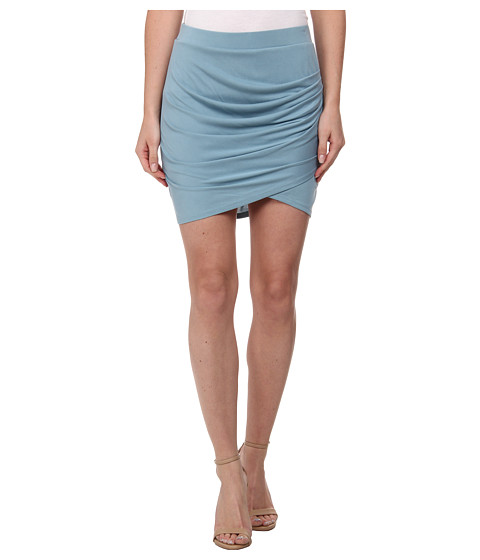BCBGMAXAZRIA - Paloma Pleated Tulip Skirt (Vintage Blue Breeze) Women