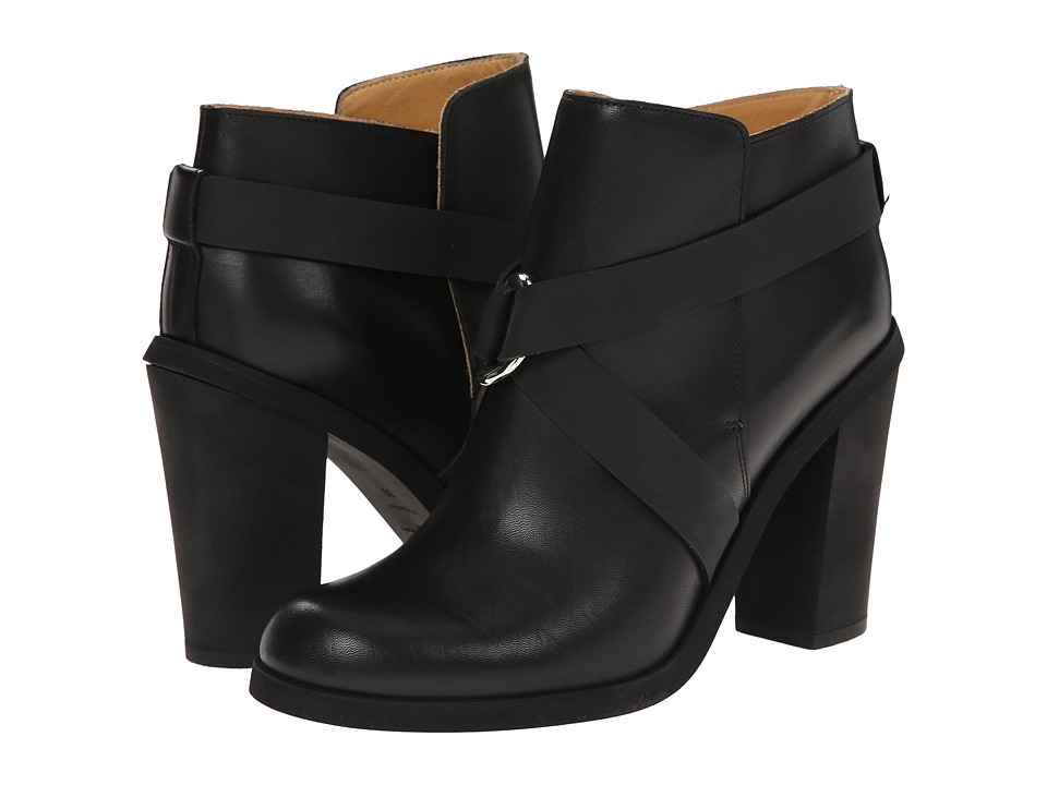 MM6 Maison Margiela - Crisscross Bootie (Black) Women's Pull-on Boots