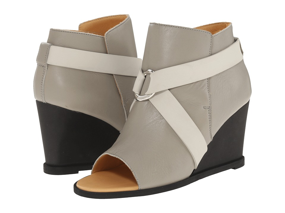 MM6 Maison Margiela - Open Toe Crisscross Bootie (Grey/Light Grey) Women's Boots