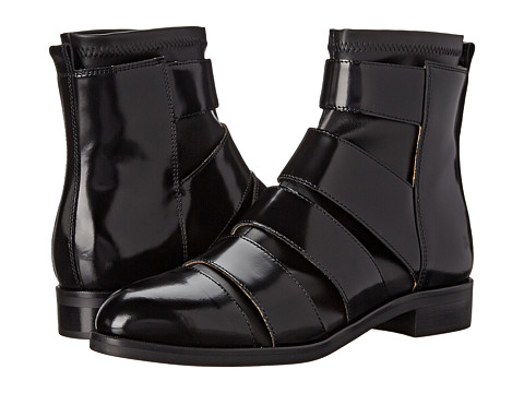 MM6 Maison Margiela - Cutout Ankle Boot (Black/Black) Women's Boots