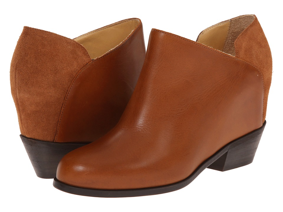 MM6 Maison Margiela - Low Heel Ankle Boot (Brown Sienna) Women