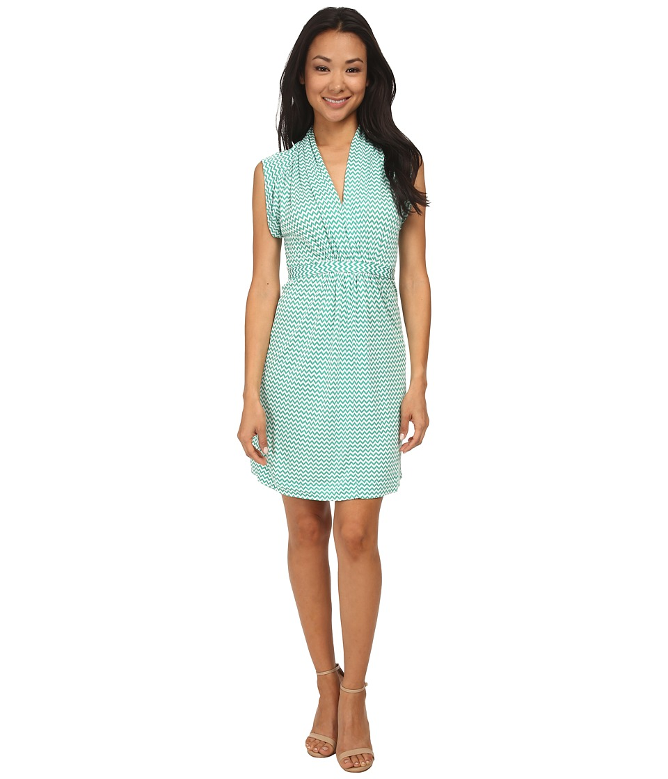 French Connection - Meadown Chevron 71DLP (Souther Glades/White) Women's Clothing