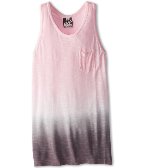 Young Fabulous & Broke Mini - Racer Tank Top (Little Kids/Big Kids) (Pink/Gray Ombre) Girl's Sleeveless