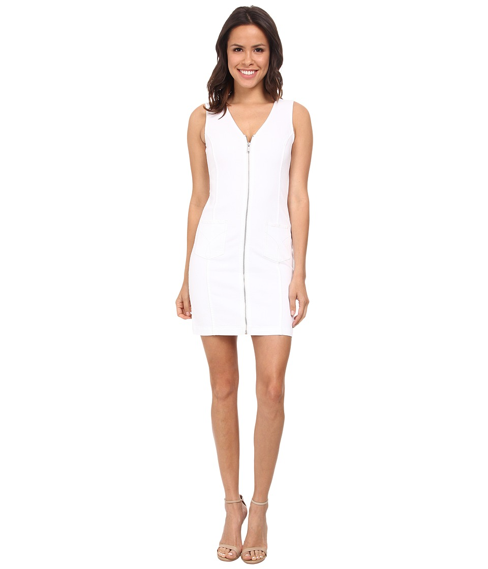 Calvin Klein Jeans - Classic Calvin Denim Dress (White) Women