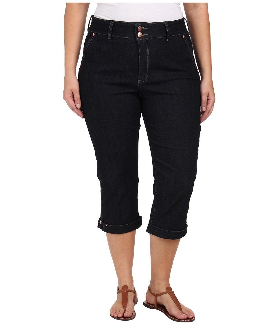 NYDJ Plus Size - Plus Size Kasia Crop - Hem Novelty Clasp (Dark Enzyne) Women's Clothing