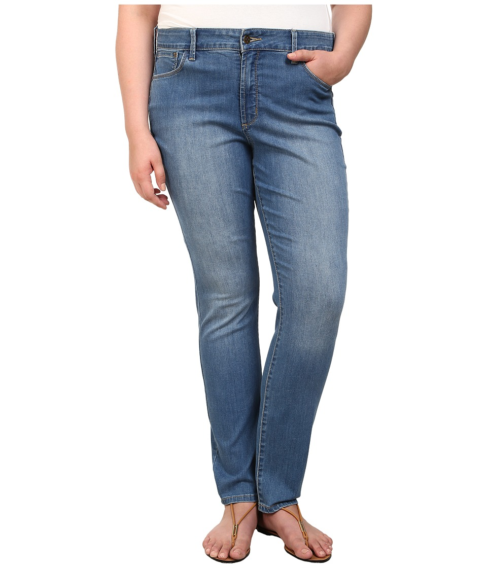 NYDJ Plus Size - Plus Size Samantha Slim Straight in Evansdale Wash (Evansdale Wash) Women's Jeans