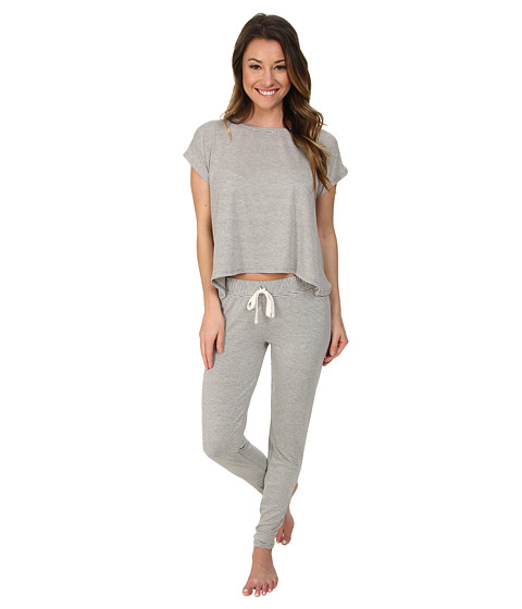 Splendid - Slouchy Lounge Set (Mini Luxe Stripe) Women's Pajama Sets