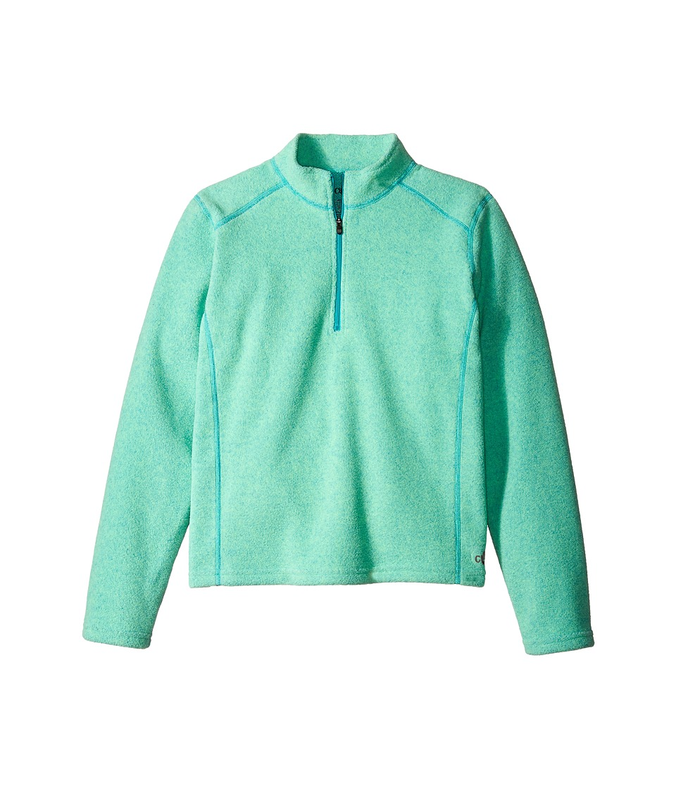Hot Chillys Kids - Baja Zip-T (Little Kids/Big Kids) (Ocean) Kid's Clothing