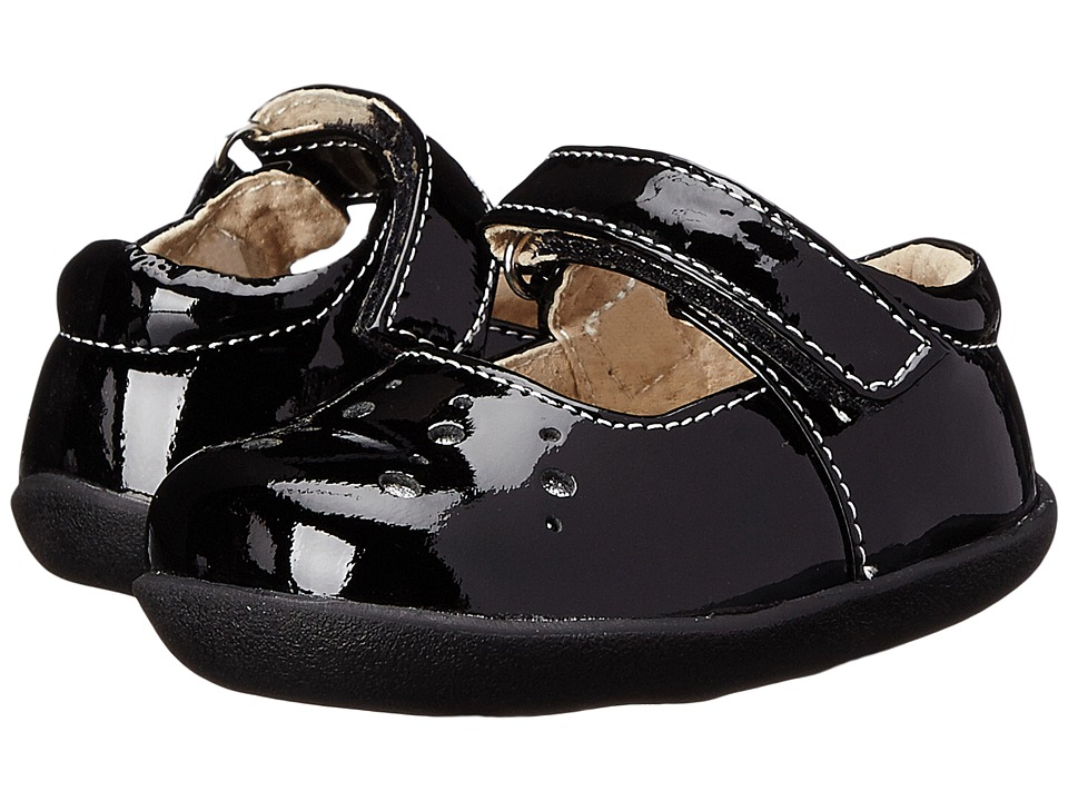 See Kai Run Kids - Manami (Infant/Toddler) (Black Patent) Girl's Shoes