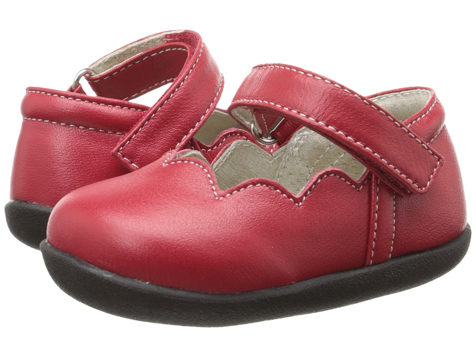 See Kai Run Kids - Clara (Infant/Toddler) (Red) Girls Shoes