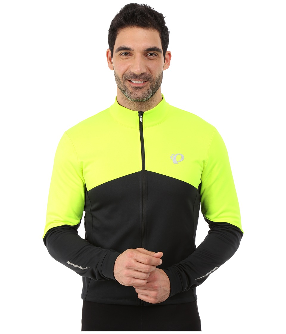 Pearl Izumi - Elite Thermal Long Sleeve Jersey (Screaming Yellow/Black) Men's Workout